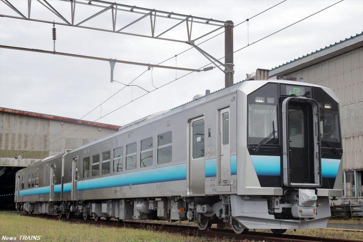 東日本旅客鉄道】秋田地区GV-E400系電気式気動車を報道関係者に公開 ...